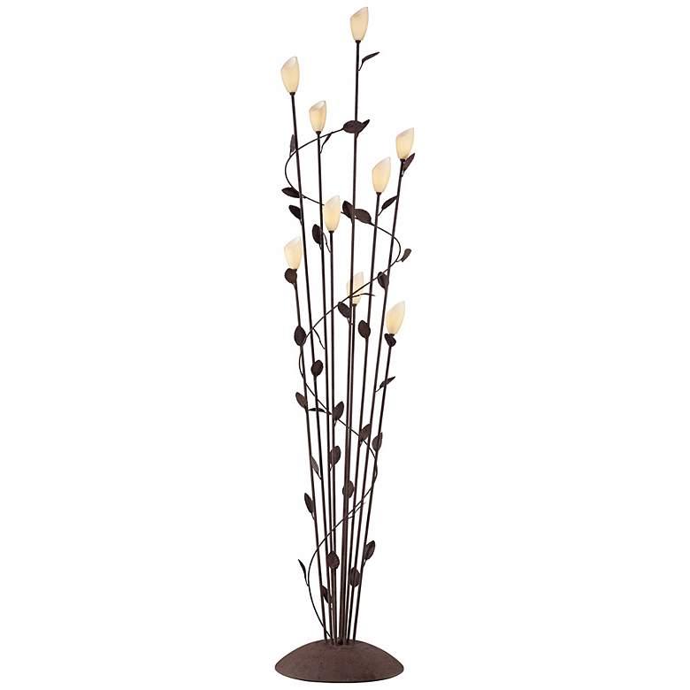 Arbor Twisted Vine 9 Light Rust Floor Lamp Y7871
