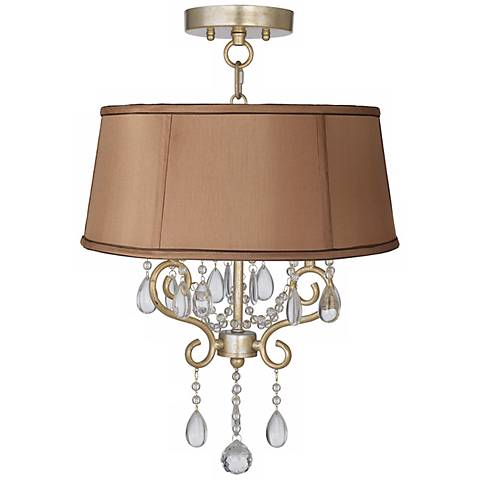 "Conti 16"" Wide Ceiling Light with Biscuit Brown Shade"