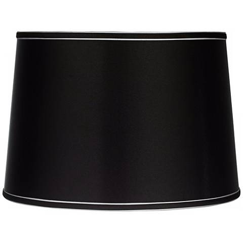 Sydnee Collection Satin Black Drum Shade 14x16x11 (Spider)