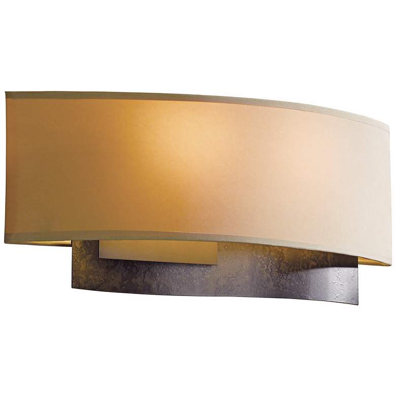 "Hubbardton Forge Current 16"" Wide Dark Smoke Wall Sconce"