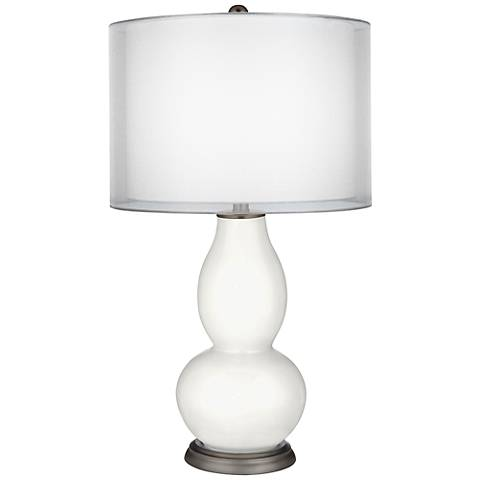 Winter White Sheer Double Shade Double Gourd Table Lamp