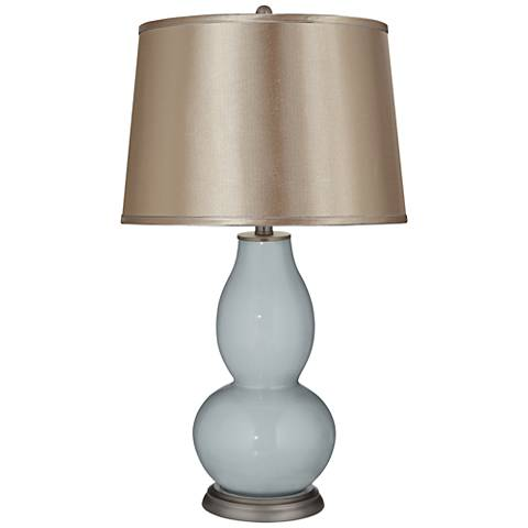 Uncertain Gray Satin Dark Champagne Shade Double Gourd Lamp
