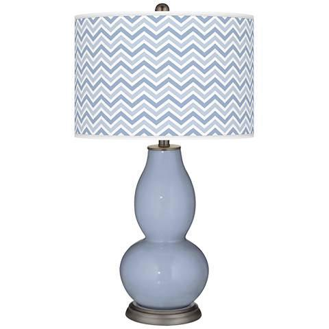 Blue Sky Narrow Zig Zag Double Gourd Table Lamp