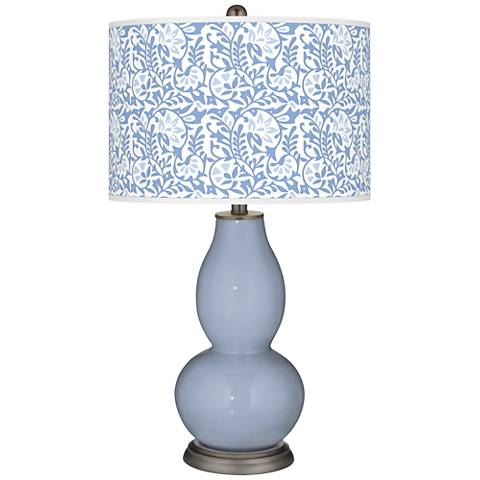 Blue Sky Gardenia Double Gourd Table Lamp