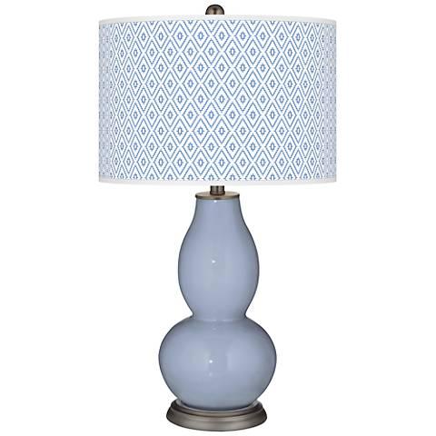 Blue Sky Diamonds Double Gourd Table Lamp