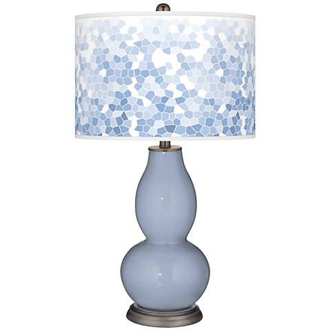 Blue Sky Mosaic Giclee Double Gourd Table Lamp
