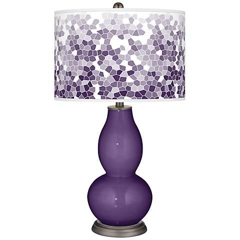 Acai Mosaic Giclee Double Gourd Table Lamp