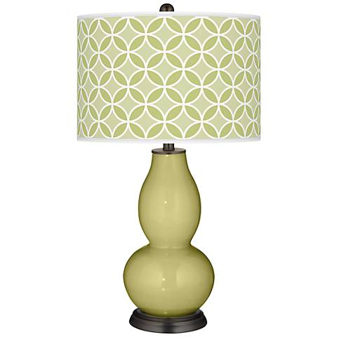 Linden Green Circle Rings Double Gourd Table Lamp