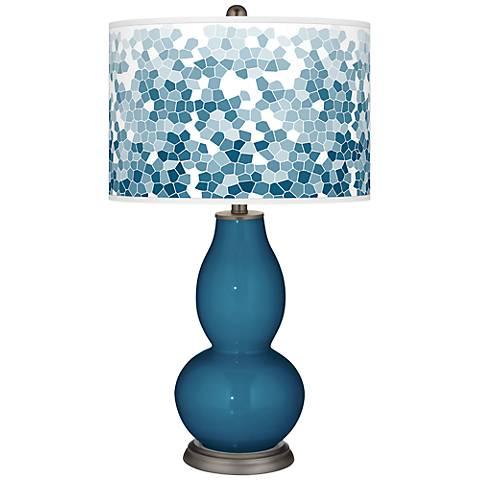 Bosporus Mosaic Giclee Double Gourd Table Lamp