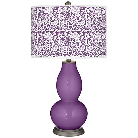 Passionate Purple Gardenia Double Gourd Table Lamp