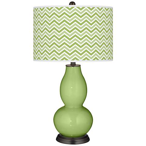 Lime Rickey Narrow Zig Zag Double Gourd Table Lamp