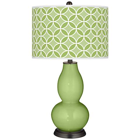 Lime Rickey Circle Rings Double Gourd Table Lamp