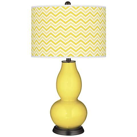 Lemon Twist Narrow Zig Zag Double Gourd Table Lamp