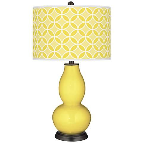 Lemon Twist Circle Rings Double Gourd Table Lamp