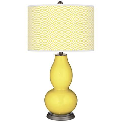 Lemon Twist Diamonds Double Gourd Table Lamp