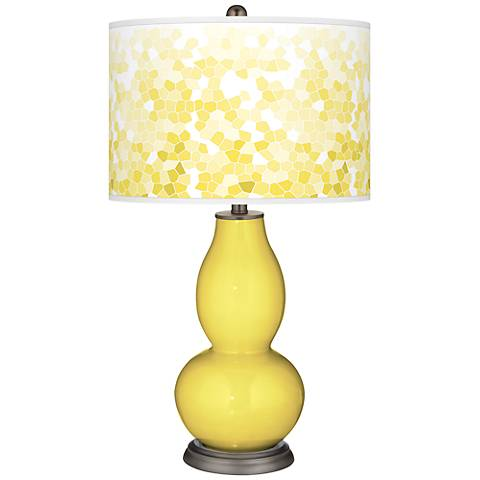 Lemon Twist Mosaic Giclee Double Gourd Table Lamp