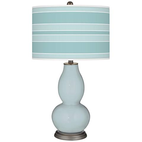 Rain Bold Stripe Double Gourd Table Lamp