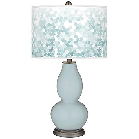 Rain Mosaic Giclee Double Gourd Table Lamp