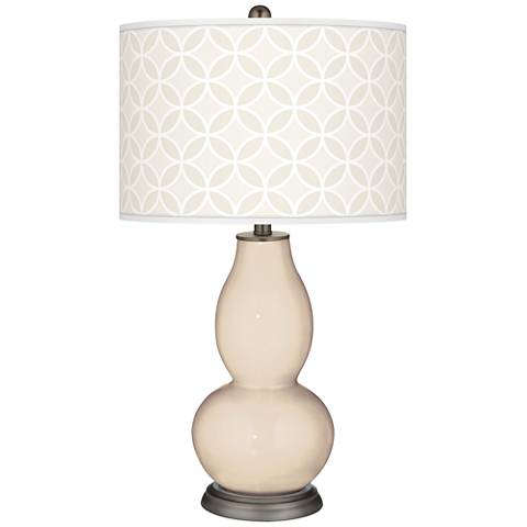 Steamed Milk Circle Rings Double Gourd Table Lamp