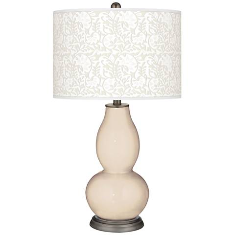 Steamed Milk Gardenia Double Gourd Table Lamp
