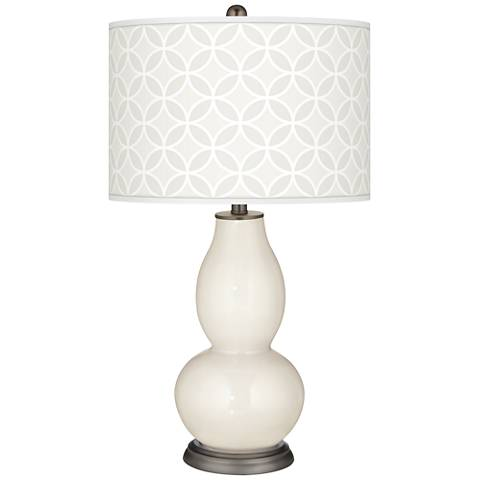 West Highland White Circle Rings Double Gourd Table Lamp