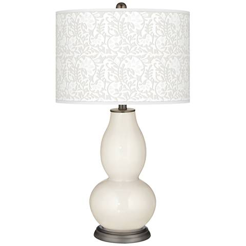West Highland White Gardenia Double Gourd Table Lamp