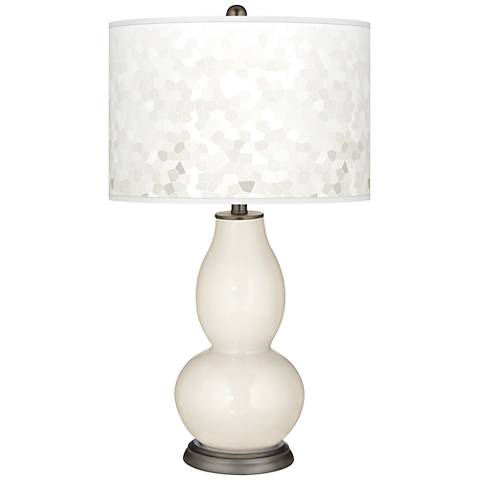 West Highland White Mosaic Giclee Double Gourd Table Lamp