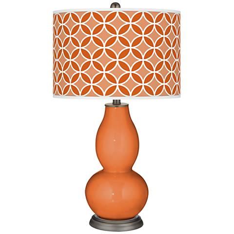 Celosia Orange Circle Rings Double Gourd Table Lamp