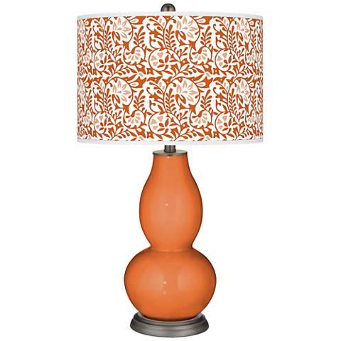 Celosia Orange Gardenia Double Gourd Table Lamp
