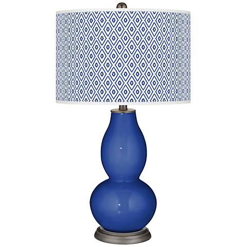 Dazzling Blue Diamonds Double Gourd Table Lamp