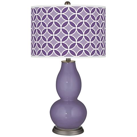 Purple Haze Circle Rings Double Gourd Table Lamp