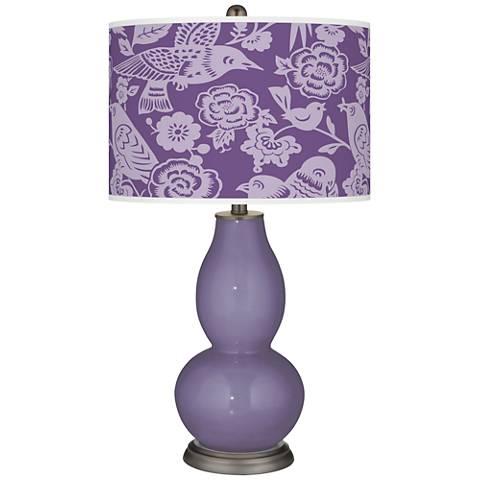 Purple Haze Aviary Double Gourd Table Lamp