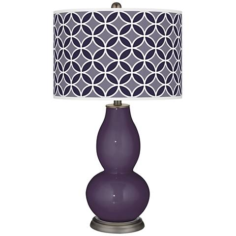 Quixotic Plum Circle Rings Double Gourd Table Lamp