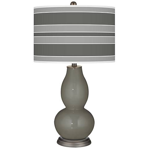 Gauntlet Gray Bold Stripe Double Gourd Table Lamp