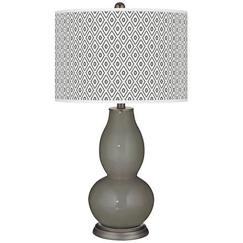 Gauntlet Gray Diamonds Double Gourd Table Lamp