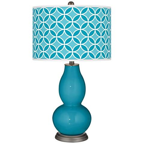 Caribbean Sea Circle Rings Double Gourd Table Lamp