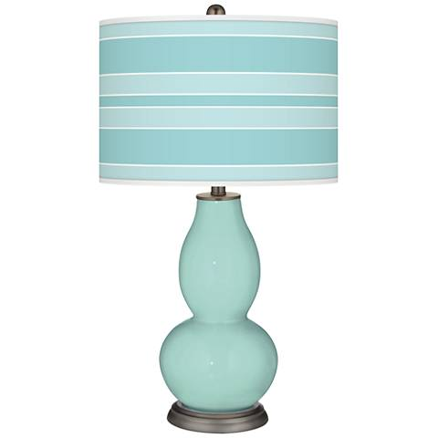 Cay Bold Stripe Double Gourd Table Lamp