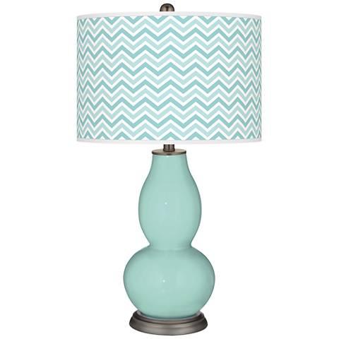 Cay Narrow Zig Zag Double Gourd Table Lamp