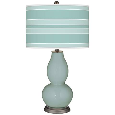 Aqua-Sphere Bold Stripe Double Gourd Table Lamp