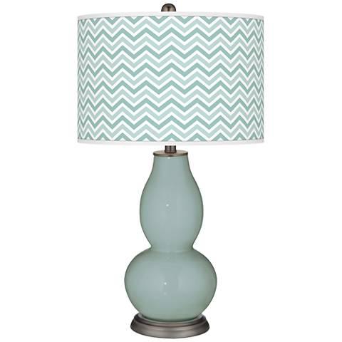 Aqua-Sphere Narrow Zig Zag Double Gourd Table Lamp