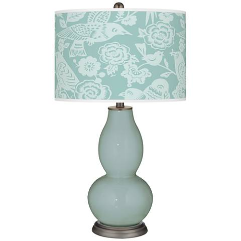 Aqua-Sphere Aviary Double Gourd Table Lamp