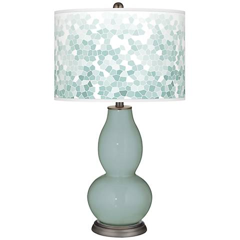 Aqua-Sphere Mosaic Giclee Double Gourd Table Lamp