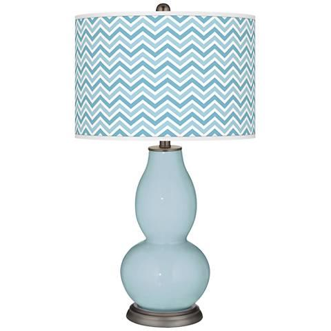 Vast Sky Narrow Zig Zag Double Gourd Table Lamp