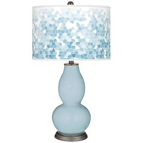 Vast Sky Mosaic Giclee Double Gourd Table Lamp