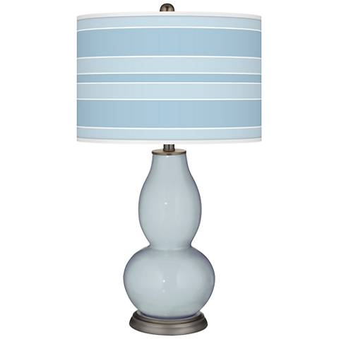 Take Five Bold Stripe Double Gourd Table Lamp
