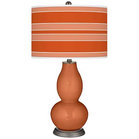 Robust Orange Bold Stripe Double Gourd Table Lamp