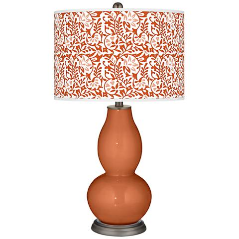 Robust Orange Gardenia Double Gourd Table Lamp