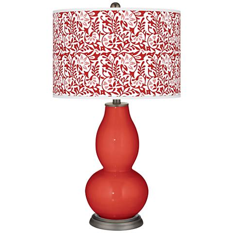 Cherry Tomato Gardenia Double Gourd Table Lamp