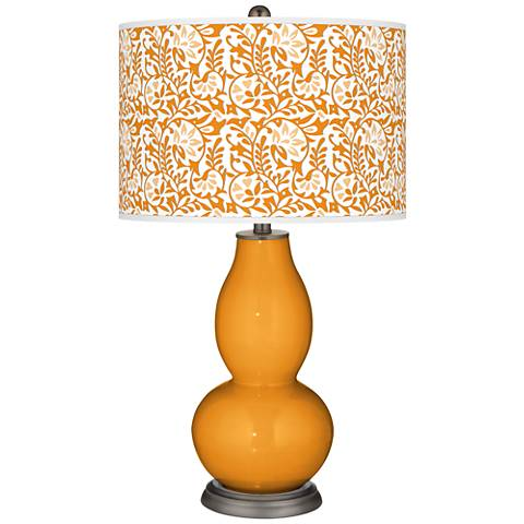 Carnival Gardenia Double Gourd Table Lamp