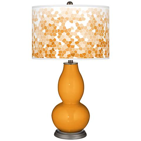 Carnival Mosaic Giclee Double Gourd Table Lamp